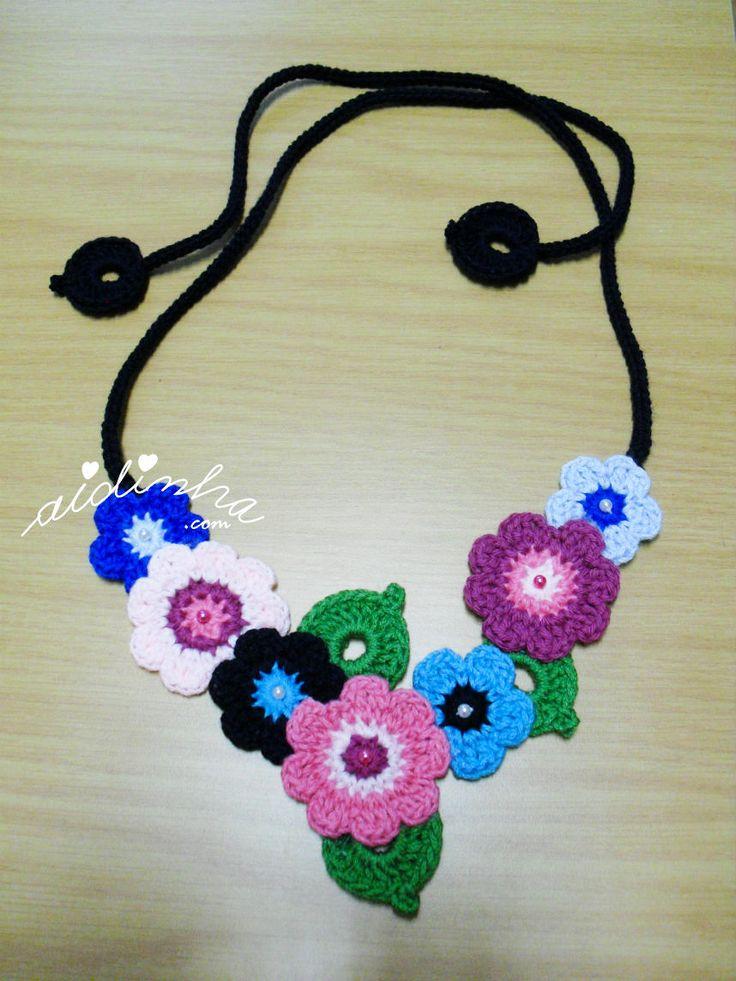 """Hallo Leute! Noch eine """"Bouquet"""" -Halskette häkeln, aber diesmal in Tonne …   – Sun"""