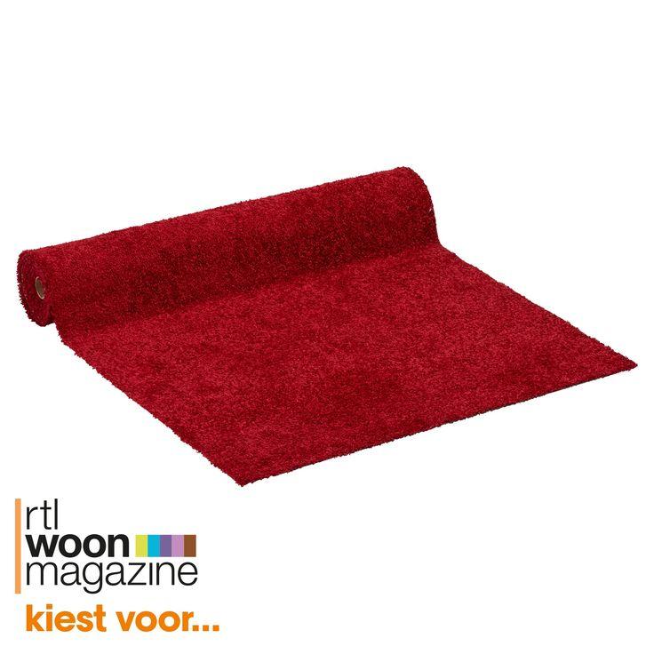 Tapijt rood met actionback rug, daardoor stevig en duurzaam. Slijtvast, warmte isolerend en geluiddempend. 400 cm breed. #vloer #kwantum #tapijt #vloerbedekking