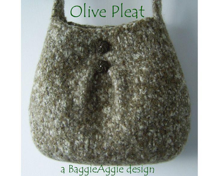 Felted Purse Pattern Bag Knitting