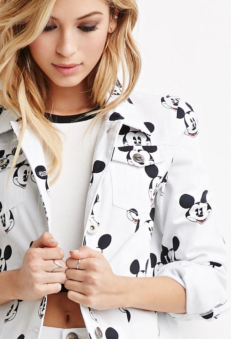Mickey Mouse Denim Jacket - Jackets & Coats - 2049258936 - Forever 21 EU English