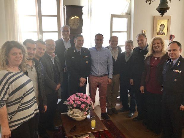 Συνάντηση του Δημάρχου Μυκόνου με τον Αρχηγό Πυροσβεστικού Σώματος Μυκόνου