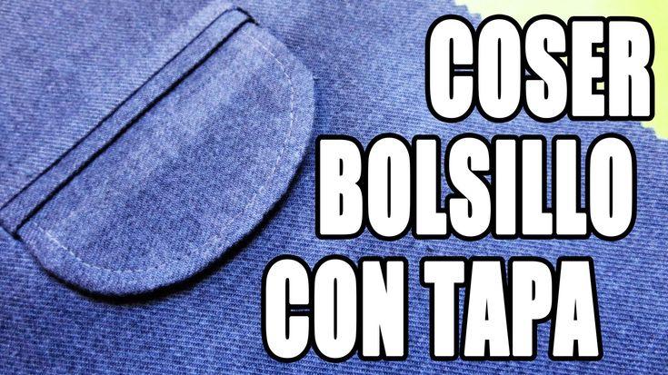 En ésta oportunidad les voy a enseñar cómo coser un bolsillo con tapa. Éste bolsillo se caracteriza por estar escondido en el interior de la prenda y a la vi...