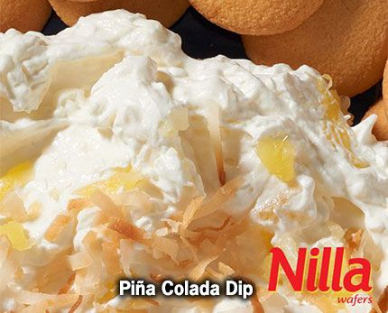 45 mins to make,serves 24 -- INGREDIENTS (Vegetarian) -- PRODUCE • 1 can Pineapple BAKING & SPICES • 1 1/2 cups Topping, frozen light whipped NUTS & SEEDS • 1 1/4 cups Coconut, sweetened flaked SNACKS • 1 Nilla wafers DAIRY • 1 pkg. Neufchatel cheese