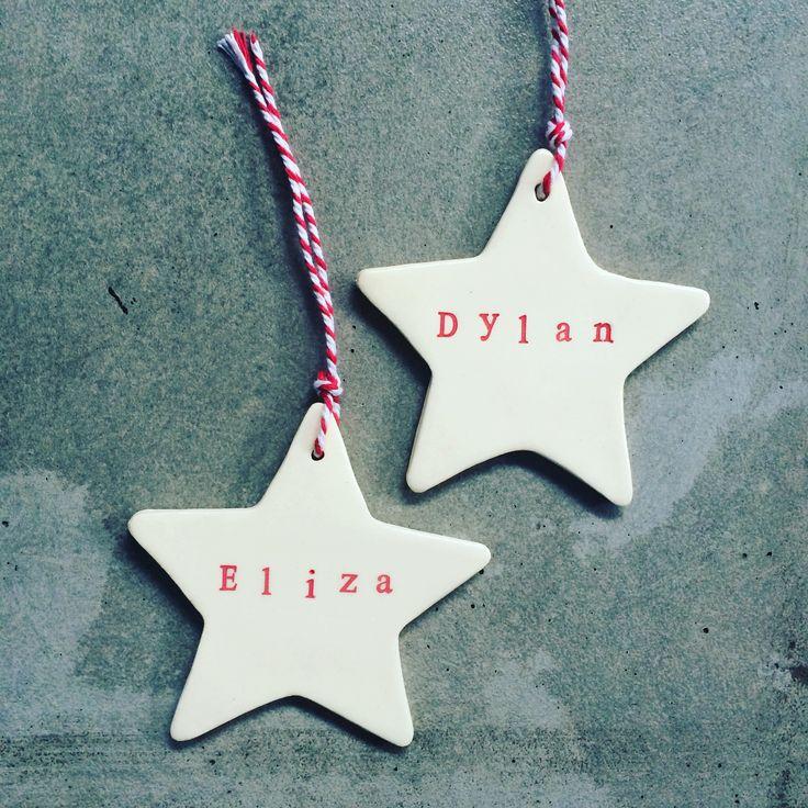 Personalised Ceramic Christmas Decorations!