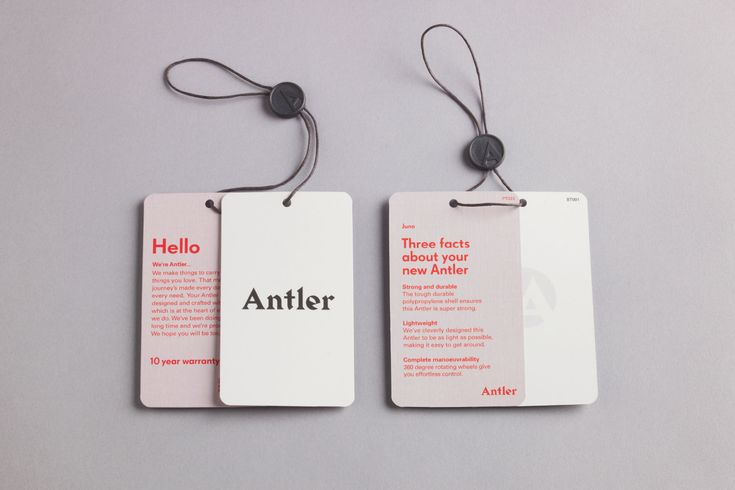 Antler by Mammal, United Kingdom. #swingtag #design #branding