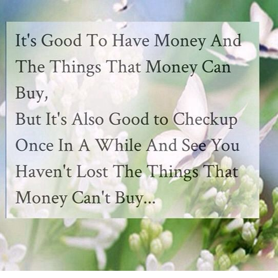 Because being money-hungry will drive people who love you away.