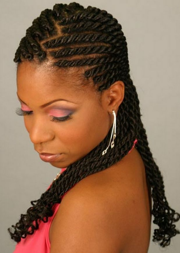 natural hair styles for black women | Braid Hairstyles for Black Women - Prom Hairstyles - Zimbio