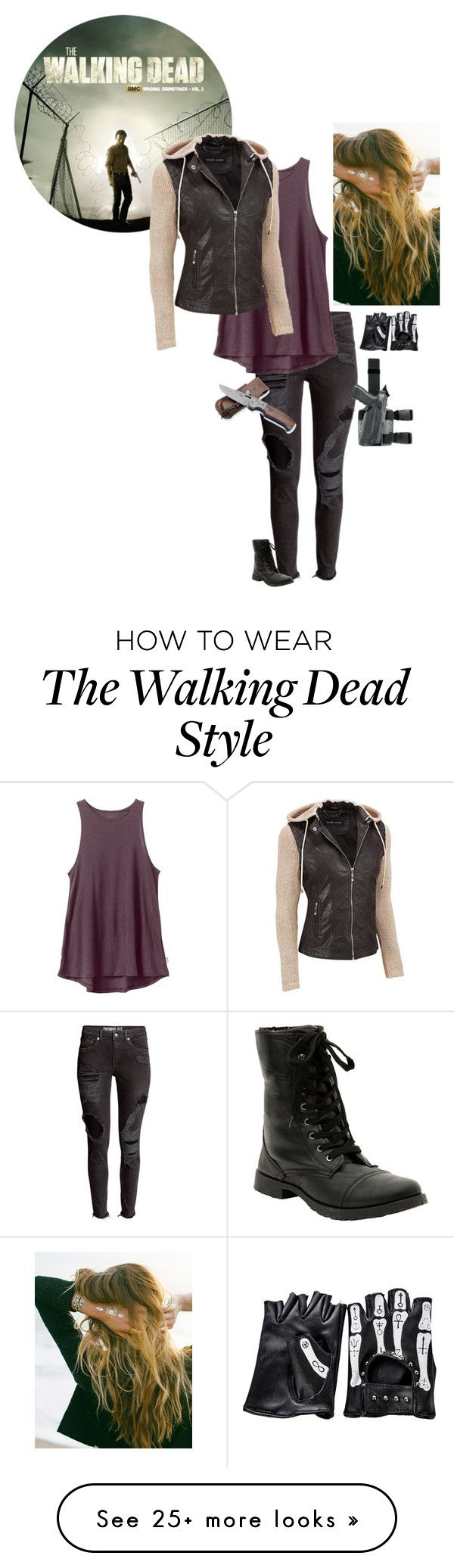 """""""Happy Walking Dead Day!!!"""" by awesomekittypower on Polyvore featuring RVCA, Black Rivet, Lulu DK, women's clothing, women, female, woman, misses and juniors"""
