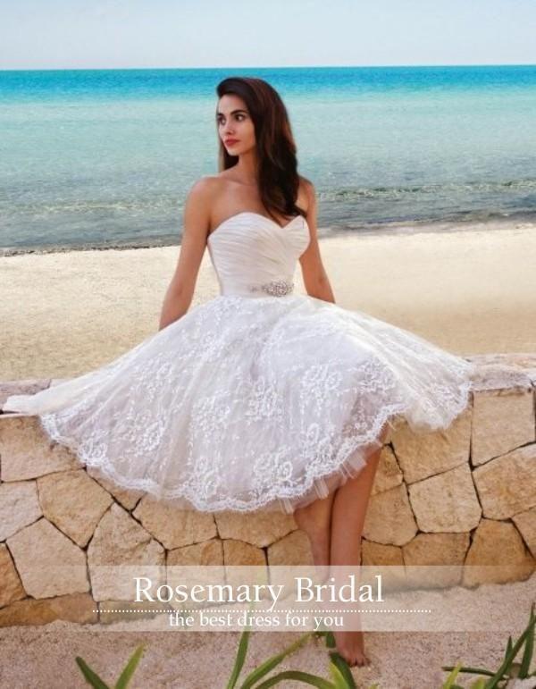 Sweetheart A Line Short Knee Length Spring Summer Wedding