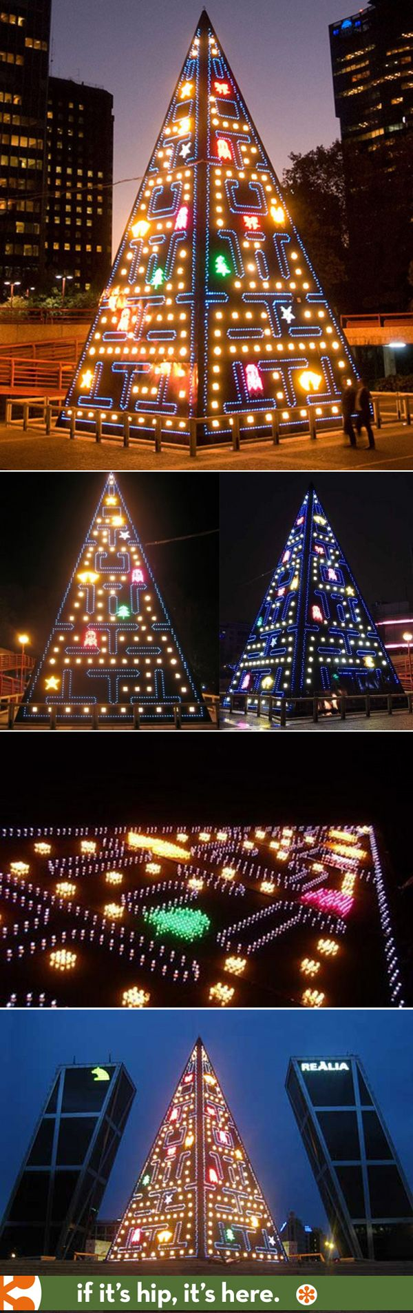 Animated Led Pac Man Christmas Tree In Spain