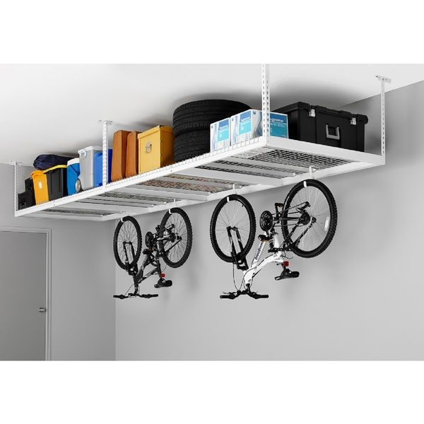 Newage Products Adjule Width Ceiling Storage Rack Ping Great Deals On