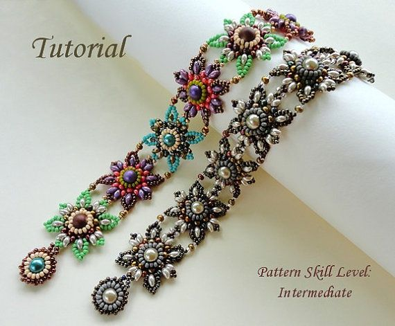 Beading tutorial beadweaving pattern beaded by PeyoteBeadArt
