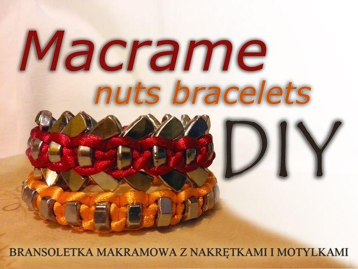 EMvlog odcinek 1 - DIY - Bransoletki makramowe z nakrętkami, tutorial macrame nuts bracelet DIY