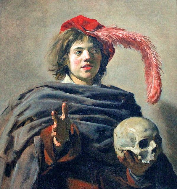 Young Man with a Skull - Frans Hals