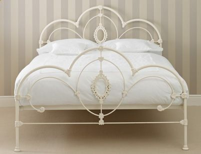 iron bed frame .