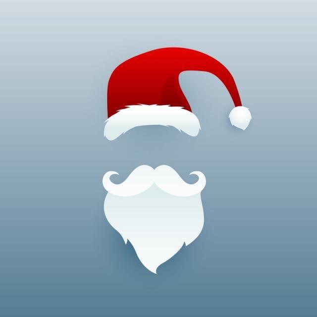 Santa Claus Illustration Design For Christmas Festival Navidad Png Barba De Santa Claus Decoracion Navidad