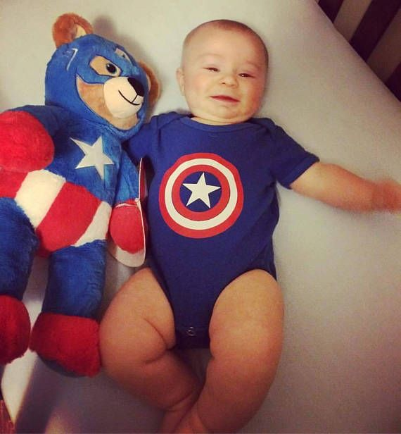 Captain America shield onesie or youth shirt  Check out this item in my Etsy shop https://www.etsy.com/listing/546877421/captain-america-shield-onesie-or-youth