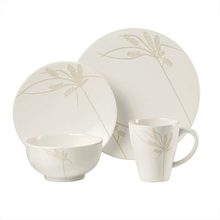 "Beautiful Casual Dinner Set  Block ""Silver"", Cream 