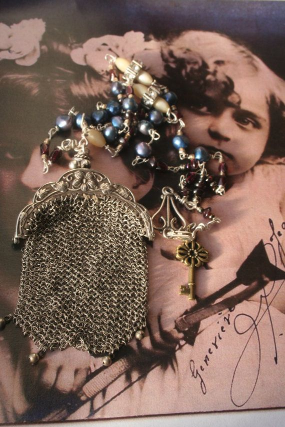 Joan of Arc French Vintage Assemblage jewelry Purse