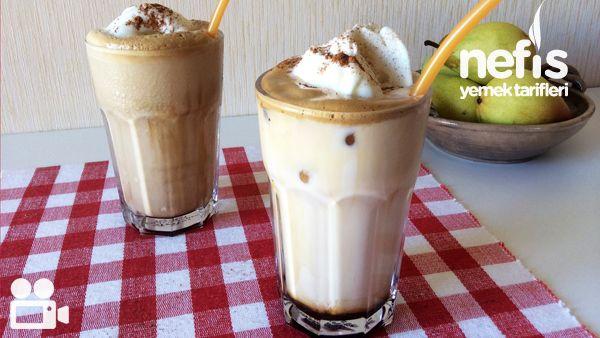 Frappe Nasıl Yapılır 1,5 tatlı kaşığı nescafe İstenilen miktarda şeker 4-5 tatlı kaşığı su Soğuk süt 1-2 adet buz küpü Servis için; Vanilyalı dondurma