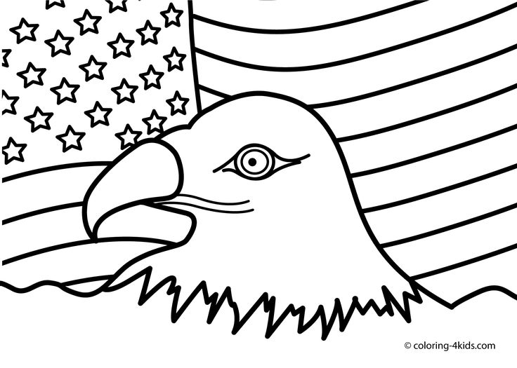 4thofjuly the 4th of july coloring pages usa independence day eagle