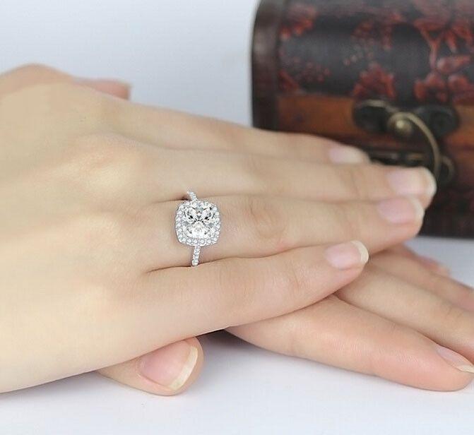 Princess cut fashion diamond wedding ring