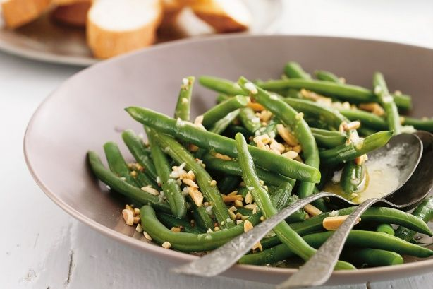 Toasted almonds give a nutty crunch to these fabulous green beans.