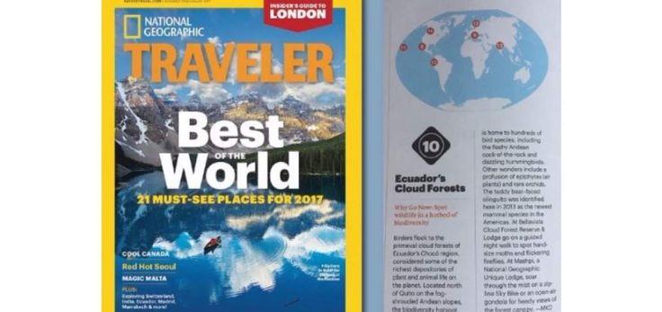 National Geographic recomienda visitar el bosque nublado quiteño.