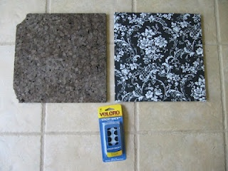 How to cover my cork board with fabric.  Cute!  Why didn't I think of that!