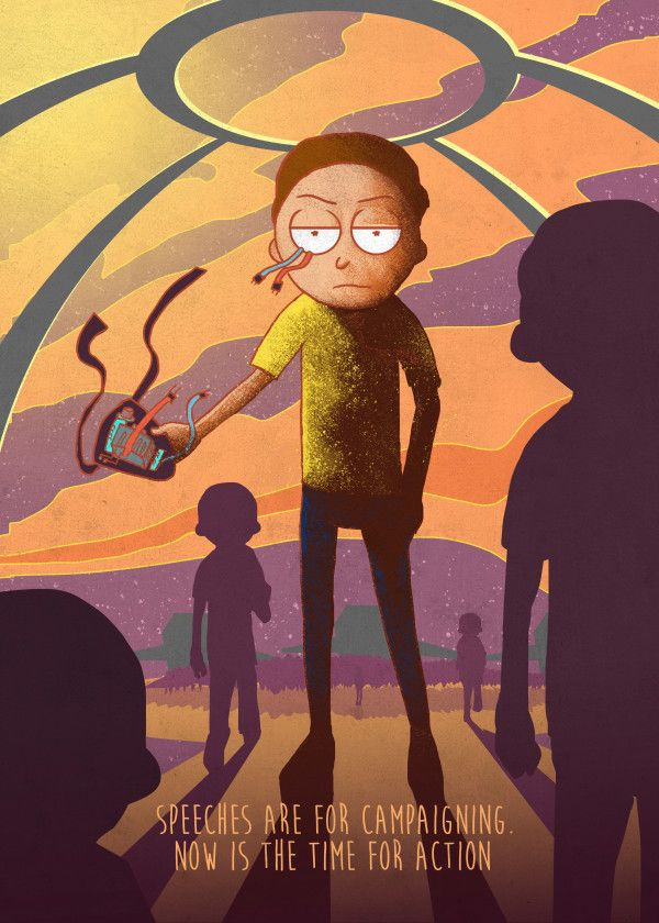 Rick And Morty By Sawuinhaff Rick And Morty Poster Cartoon Wallpaper Morty Smith