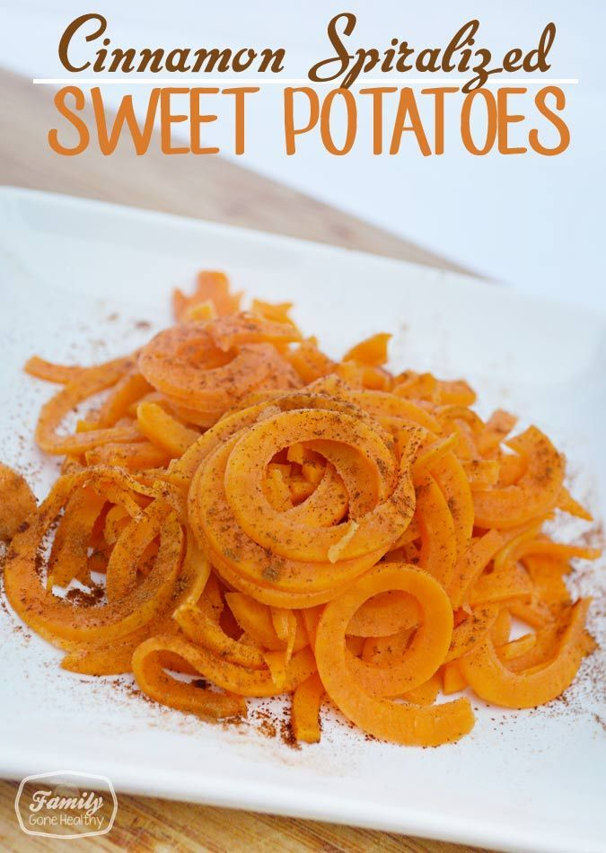 Spiralizer Recipe: Cinnamon Spiralized Sweet Potatoes   Family Gone Healthy