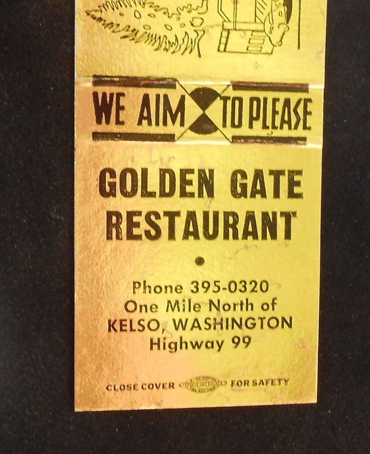 California Map Hwy 99%0A     s Matchbook Golden Gate Restaurant Highway    Old Cars Kelso WA Cowlitz  Co