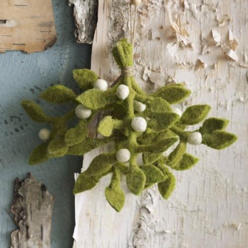 Felt Mistletoe Ornament
