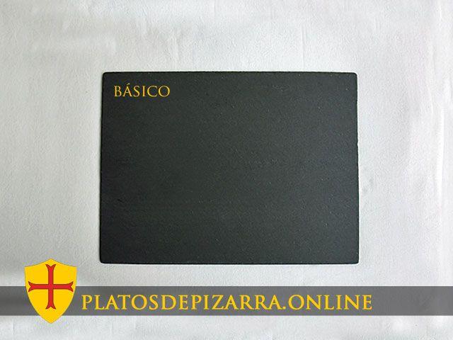 Platos de pizarra rectanglar. Plato pizarra rectangular. Diseño básico.