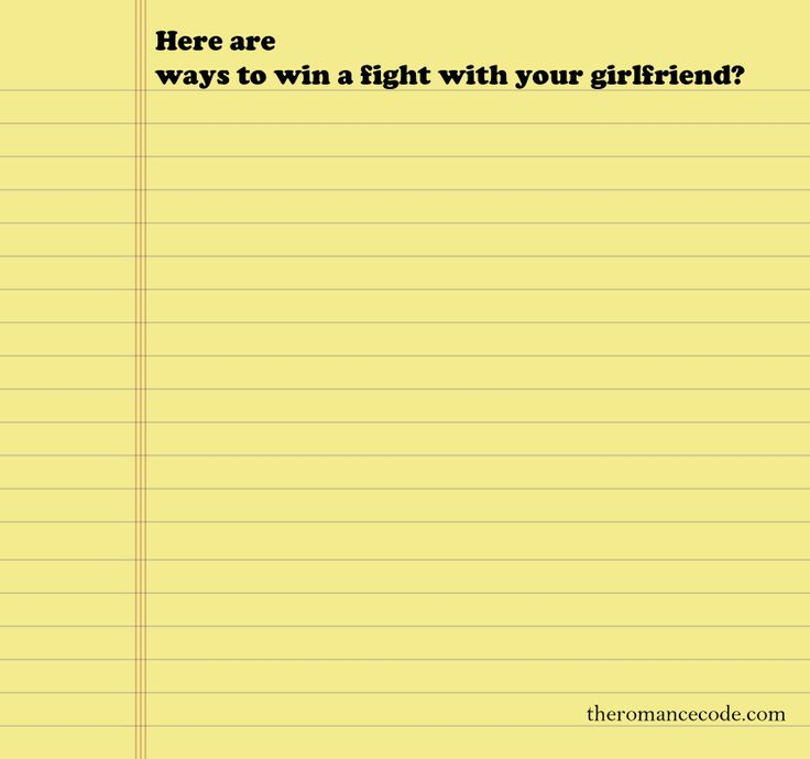 how to win a fight with your girlfriend