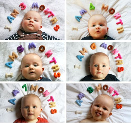Cute monthly baby picture idea!