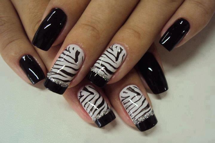 decoração de unhas zebra - Google Search