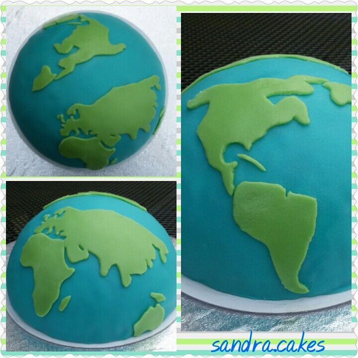 Wereldbol taart/world cake