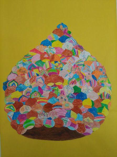 CASTANYES - Material: paper, colors, tisores, cola, cartolina -  Nivell: Menjador P5 INF 2015/16 Escola Pia Balmes