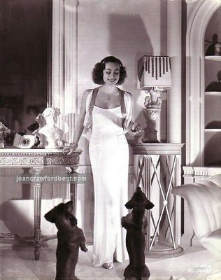 Joan Crawford and her beloved doxies, Baby and Boopshen!