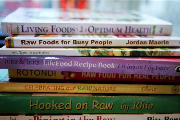 Books on healthy food..