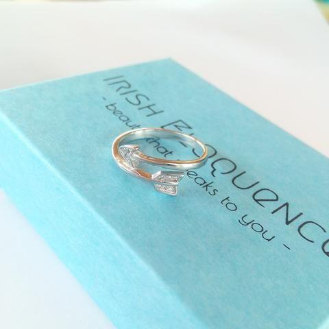 925 Arrow Wrap Ring
