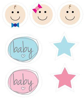 Cute baby shower graphics that you can print from home