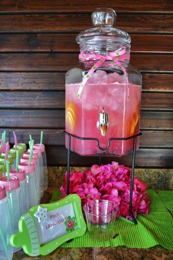 """Photo 1 of 31: Baby Shower Polka Dots / Baby Shower/Sip & See """"Hot Pink and Lime Green"""" 