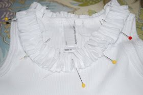 Materials: 3 coordinating fabrics, tank top, thread, sewing machine or serger, pins, scissors, rotary board, rotary cutter, and ruler 1)...