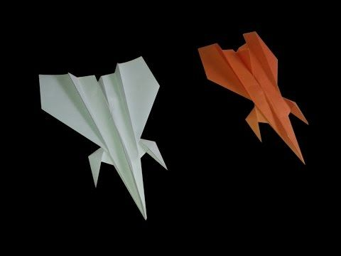 How to make a fighter jet paper airplane  Best fighter paper airplane  Easy fighter Paper plane