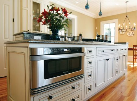 sharp microwave drawer in kitchen island - Google Search