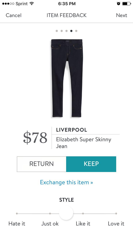 Liverpool - Elizabeth Super Skinny Jean. Stitch Fix October 2016