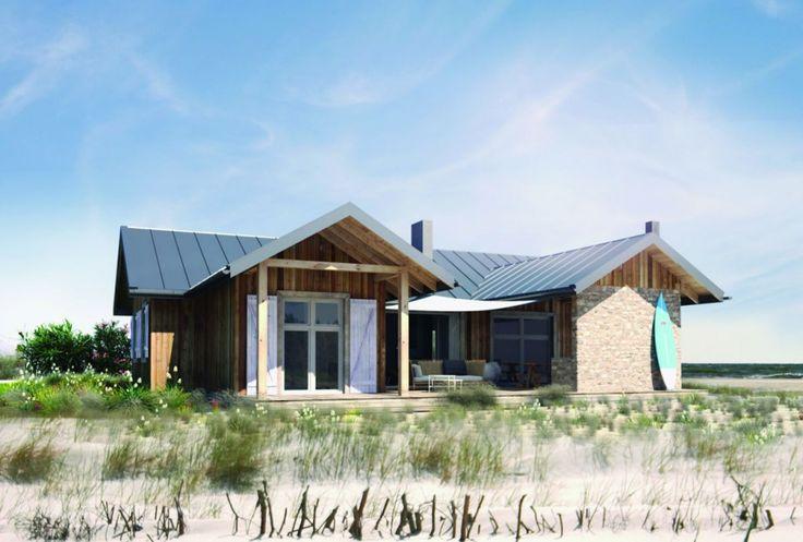 Budując mały dom na ustronnej działce w lesie czy nad jeziorem musimy zapoznać się z miejscowym planem zagospodarowania przestrzennego lub warunkami zabudowy. Jeżeli owe dokumenty pozwalają na wzniesienie domu całorocznego warto się zastanowić, czy nie ponieść dodatkowych nakładów finansowych i zbudować sobie wygodne lokum, które posłuży nam również zimą. Proj. S24, Fot. S&O Projekty Sylwii Strzeleckiej