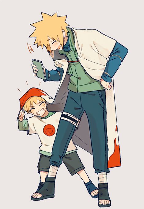 Namikaze Minato   Uzumaki Naruto    Naruto